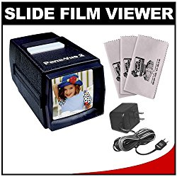Pana-Vue 2 Lighted 2×2 Slide Film Viewer with AC Adapter + (3) Microfiber Cleaning Cloths