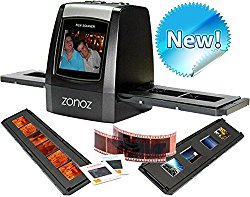 zonoz FS-ONE 22MP Ultra High-Resolution 35mm Negative Film & Slide Converter Scanner w/ 2.4″ TFT LCD – No Computer or Software Required – TV Out Cable Included & Worldwide Voltage 110V/240V AC Adapter