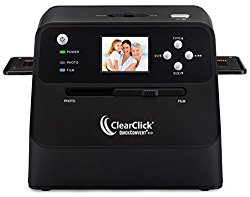 ClearClick 14 MP QuickConvert 2.0 Photo, Slide, and Negative Scanner – Scan 4×6 Photos & 35mm, 110, 126 Film
