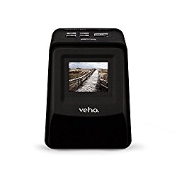 """Veho Smartfix Portable Stand Alone 14 Megapixel Negative Film & Slide Scanner with 2.4"""" Digital Screen and 135 Slider Tray for 135/110/126 Negatives Compatible with Mac/PC – Black (VFS-014-SF)"""