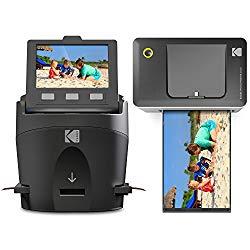 Kodak Scanza Film Scanner & Dock Printer Bundle – Scan, Save and Print Negatives & Slides to 4×6 Prints – Set Includes Kodak Printer Dock, Kodak Scanza Digital Film Scanner & 16GB SD Card w/Reader