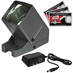 Zuma SV-3 LED 35mm Film Slide and Negative Viewer with AC Adapter + Cleaning Cloths