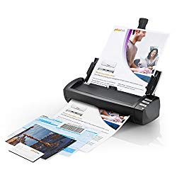 Plustek AD480 – Desktop Scanner for Card and Document, with 20 Page Paper Feeder and Exclusive Card Slot. for Windows only