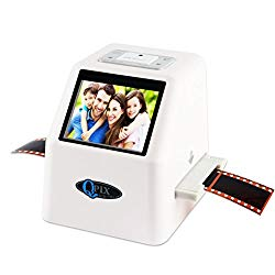 Film Negative Scanner 22 MP 110 135 126KPK Super 8 Negative Photo Scanner 35mm Slide Film Scanner Digital Film Converter High Resolution 22MP 2.4″ LCD(White)