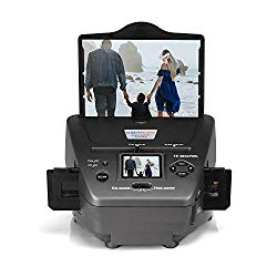 All-in-One High Resolution 16MP Film Scanner, with 2.4″ LCD Screen Converts 35mm/135slides&Negatives Film Scanner Photo, Name Card, Slides and Negatives for Saving Films to Digital Files