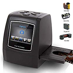 Film Scanner and Slide Digitizer – All in 1 22MP Slide Digital Film Slide Scanner, Image Converter, Compatible w/ Super-8 Film, 126 KPK Film, Converts 35mm Slides and Negatives – Pyle PSCNPHO32