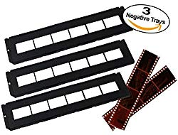 Negative Trays Set of 3 – Fits most zonoz, Wolverine Data, Jumbl, Magnasonic, Digitnow, SainSonic & ClearClick 35mm Slide & Negative Scanners