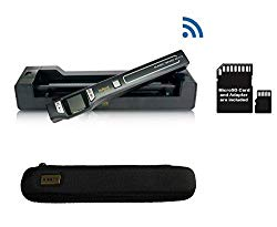 VuPoint ST47 Magic Wand Wireless Portable Scanner, Auto-Feed Docking Station, 8GB MicroSD Card, Protective Carrying Case, JPEG/PDF, Color/Mono, 1.5 LCD, 1050 DPI (Black)