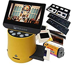 Wolverine Titan 8-in-1 20MP High Resolution Film to Digital Converter with 4.3″ Screen and HDMI output, Worldwide Voltage 110V/240V AC Adapter Plus (3) Wolverine Slide Trays (Bundle)